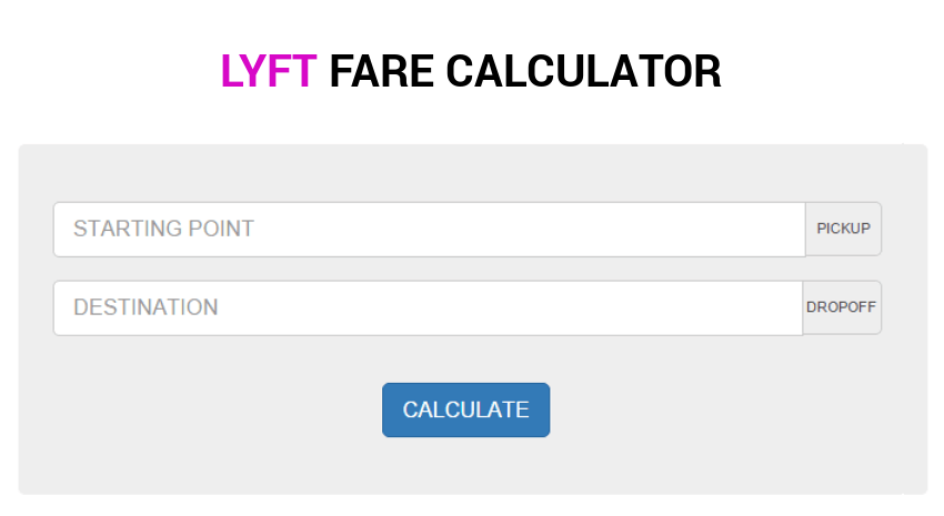 Estimate Any Lyft Fare!