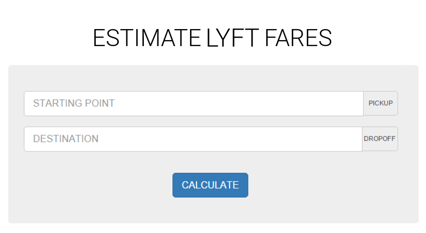 Estimate the cost of any Lyft ride!